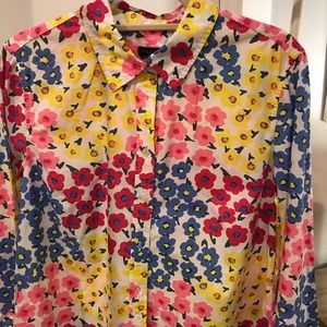 Talbots, Colorful, Spring, Button-down Shirt